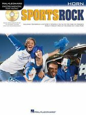 "Instrumental Play-Along-For Horn ""Sports Rock"" Music Book/Cd-Brand New On Sale!"