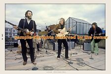 THE BEATLES  ROOFTOP CONCERT 1969 John & George SET OF 2 - 8x10 & 8x12