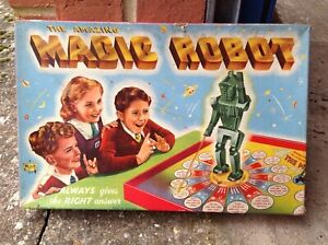 1950s vintage board game The Magic robot