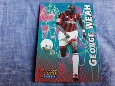 Trading card Calcio Panini 97 N°89 GEORGE WEAH MILAN Soccer