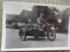 original  Foto POLIZEI im Fronteinsatz Osten Beiwagenkrad