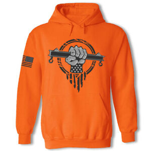 Rigger sweatshirt hoodie - USA superhero patriotic construction rigging hoodie