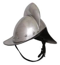 deutscher Morion Helm 16mm Stahl mit Lederinlay