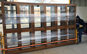 Lawyers Bookcase Law Office VERY LARGE!!! Double Sided - Almost 13 Feet Long!