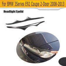 2PCS Headlight Eyelid Eyebrow For BMW 3 Series E92 E93 M3 2008-2013 Carbon Fiber