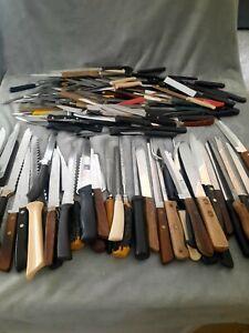 Lot of 110+ Vintage Kitchen Chef Steak Knives Stainless Bakelite Long - Short