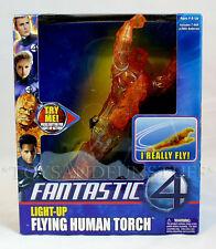 NEW Light-Up - FLYING HUMAN TORCH - Fantastic 4 CEILING FLYER Toy Biz 2005