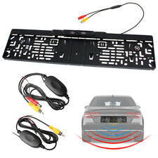 EU Car License Plate Frame 2.4GHz Wireless Rear View Backup Camera Night Vision
