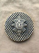 eccellente vintage esercito britannico NERO Orologio Reggimento ottone Paper