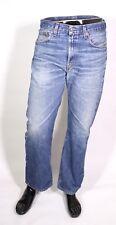 GJ7-92 Levis 751 Herren Jeans straight leg W34 L29 blau Zip Fly Used-Look