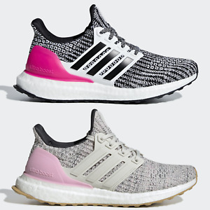 adidas UltraBOOST 4.0 Junior Girls Womens Running Shoes Grey Pink SIZE 3.5 4 5 6