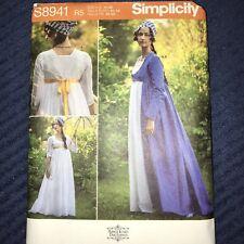 Women Renaissance Costume Dress Sewing Pattern/Simplicity S8941 Plus Size 6-14