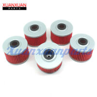 5x Oil Filter HF112 KN112 For Kawasaki KX450F KLX110 KLX140 Honda TRX300 TRX250