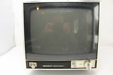 """Vintage Sony TV-110U Solid State Television Set 10"""" uhf vhf for parts only"""