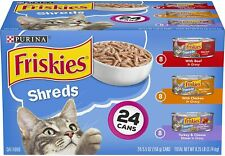 Purina Friskies Gravy Wet Cat Treat Food Variety Pack,Shreds Beef,Chicken 24-Can