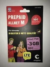 Neu Congstar Prepaid Karte mit 10€ Guthaben