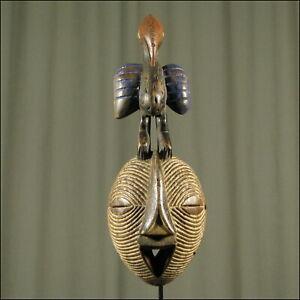 60463) Afrikanische Holz Maske Songye Kongo Afrika KUNST