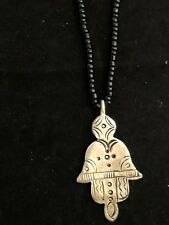 Moroccan Berber Tribal Art Hamsa  Necklace Handmade Silver With  Beads