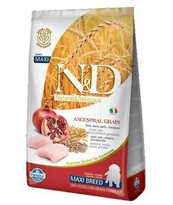 Farmina N&D Low Ancestral Grain Chicken and Pomegranate Puppy Maxi for Dogs Farm