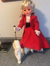 Vintage Furga Italy Italian Plastic Doll Original Dress 21 In Lovely Red Velvet