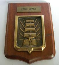 bois et bronze ancienne TAPE DE BOUCHE ECOLE NAVALE VOILIERS marine nationale