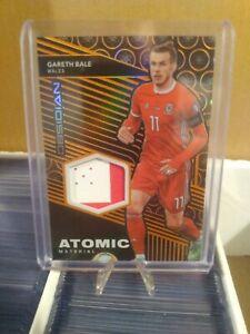2019-2020 Obsidian Atomic Material Wales Gareth Bale 6/50 MATCH WORN Orange