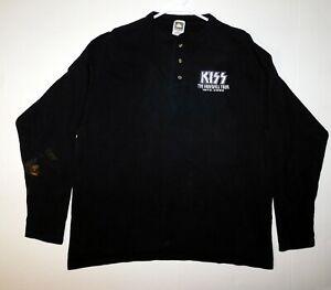 KISS Band Farewell Tour Long Sleeve Concert Shirt Embroidered Logo 2000 XL