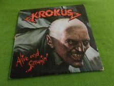KROKUS Alive And Screamin' LP '86 Arista (EX)
