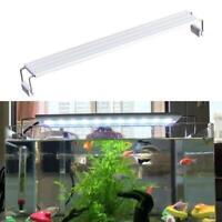 LED Aquarium Licht Fisch Pflanzen Abdeckung Beleuchtung Blau Weiß Lampe U3S1