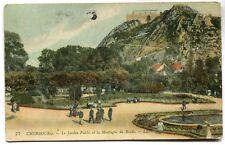 CPA - Carte Postale - France - Cherbourg - Le Jardin Public
