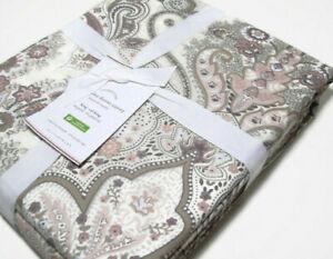 Pottery Barn Blush Brown Jordana Cotton Full Queen Duvet Cover 2 King Shams New