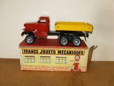 Ancien jouet / vintage toy - FRANCE JOUET FJ camion benne DODGE avec boite - 60s