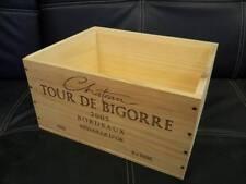 6 X Reale Francese in legno vino gabbie caselle FIORIERA ostacolare CASSETTI / Storage: