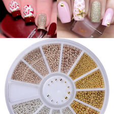 3D DIY Micro Beads Nail Art Rhinestones Caviar Tips Decoration Manicure Wheel FS
