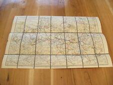 alte Landkarte Offizielle Wegekarte vom Riesen Isar und Jeschkengebirge um 1920