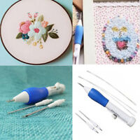 Stocked Magic Embroidery Pen Embroidery Needle Weaving Tool Fancy + 4*Needles