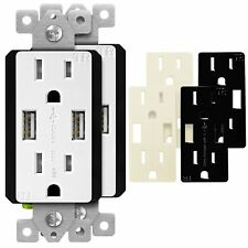 High-Speed 4.8A USB Charging Outlet / Receptacle TopGreener TU21548A (2 Pack)