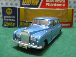 Vintage  -  ROLLS-ROYCE Phantom V Limousine  - 1/43  Dinky toys 124  ètat neuf