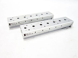 SMC MXS16L-125 CYLINDER SLIDE TABLE DUAL ROD
