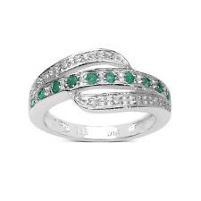 Emerald Eternity Fine Rings