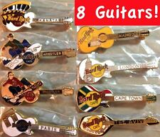 8 Hard Rock Cafe WORLDWIDE 1990s GUITAR Collection PIN LOT all Mint New!