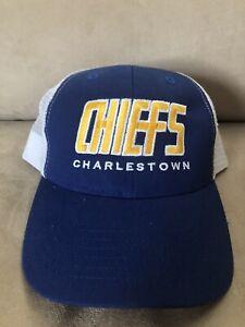New Rare Charlestown Chiefs Slap Shot Movie Adjustable Hat with Mesh Back