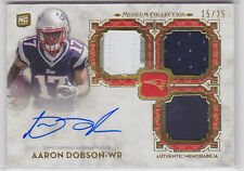 2013 Topps Signature Swatches Triple Relic Autograph Aaron Dobson RC 15/25
