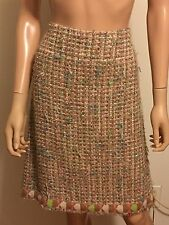 Auth.Chanel Confetti Tweed Skirt size 40EU