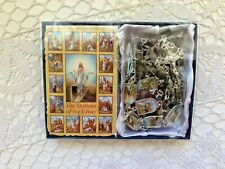 "STATIONS OF THE CROSS CHAPLET, 27""L, OFB=Colorful Stations AWESOME NEW in Box"