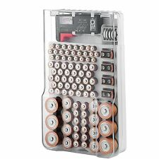 The Battery Organizer Storage Case with Hinged Clear Cover