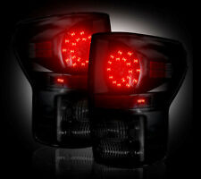 2007-13 Toyota Tundra Rear Brake & Reverse Smoked Taillights w/ Brake LED Bulbs
