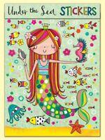 Under The Sea Mermaid Stickers Book Gift Rachel Ellen Girls Party Present Crafts