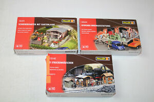 3 x Faller H0 180491 180604 120140 / Schrebergarten Gewerbe Streckenhäuschen