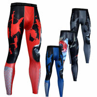 Men's Athletic Compression Leggings Gym Running Spandex Dry fit Slim fit Pants
